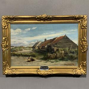 Antico quadro olio su tela Hendrik Dirk Kruseman van Elten epoca XIX secolo