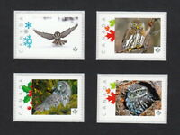 OWL set of 4 Picture Postage Stamps MNH Canada 2015 [p15/8ow4]