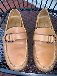 Polo Ralph Lauren Men's Loafers Slip On Driving Casual Shoes Brown Leather 9 D