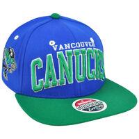 NHL LNH Vancouver Canucks Blue Super Star 32/5 Flat Zephyr Snapback Hat Cap