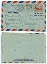 51188 - USA - Ganzsache Aerogramm - Alameda, Calif. 8.3.1952 nach Nienburg
