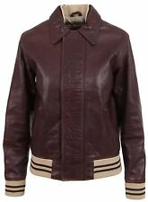 BELSTAFF DONNA GIACCA DI PELLE LEATHER JACKET Ghepard GIUBBOTTO LADY BROWN dimensioni 36 S
