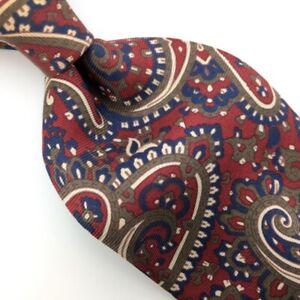 Brooks Brothers Tie Beet-Red Brown Silk Necktie Ancient Madder I17-450 Vtg/Rare