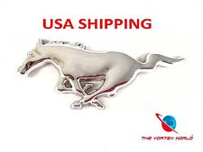 METAL CHROME FORD MUSTANG RUNNING HORSE FRONT GRILLE EMBLEM