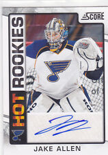 2012 12-13 Score Hot Rookie Autographs #544 Jake Allen RC-parallel Blues