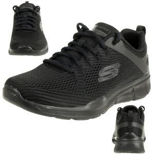 Skechers Equalizer 3.0 Herren Air Cooled Sneaker Trainer Memory Foam schwarz