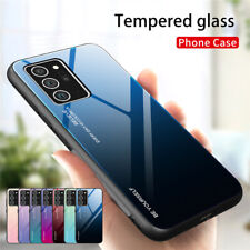 For Samsung Galaxy S20 FE 5G/4G Slim Gradient Tempered Glass Hybrid Case Cover