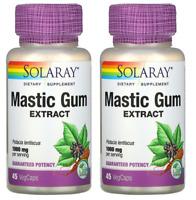 Solaray, Mastic Gum Extract, 1,000 mg, 45 VegCaps - 2 Packs