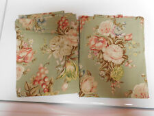"""Ralph Lauren """"CHARLOTTE Pair of KING Pillowcases Cotton-NEW NO PACKAGE"""