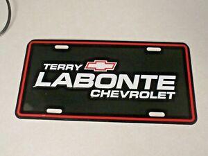 Terry Labonte Chevrolet ~ Metal License Plate