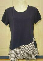 Isaac Mizrahi Live! Women's Scoop Neck Short-Sleeve Top (Black, 2XS) A352274
