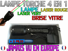 LAMPE TORCHE 4 EN 1 • 4000 LUMENS 1000W LED FLASHLIGHT LASER ROUGE & VERT
