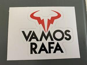 """VAMOS RAFA Rafael Nadal Sticker Decal Bull Logo 3.3"""" x 3"""" Tennis French Open"""
