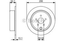 1x BOSCH Disco de Freno Trasero 286mm Pleno 0 986 479 A10