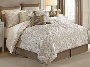 NEW Croscill Classic QUEEN Comforter Set MADELINE 4 Piece Shams Bedskirt IVORY