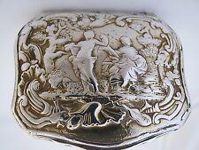 Stunning Mid 18th century German silver gilt snuff box
