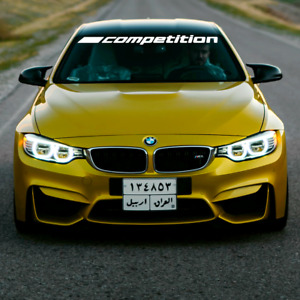 "BMW m competition logo 45"" Windshield sticker Performance Motorsport Racing logo"