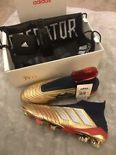 Adidas Predator 19+ FG - Zidane x Beckham - Gold Metallic_Silver_Navy UK 10.5