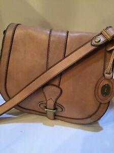 Fossil Vintage Reissue Flap Saddle Bag Tan VRI Crossbody