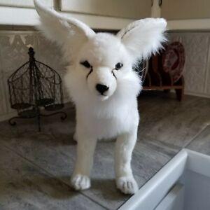 Goegeous White Plush Hansa Arctic Fox Dog 2010 Standing Excellent Stuffed Soft