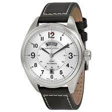 Hamilton Khaki Field Mechanical Silver Dial Black Leather Mens Watch H70505753