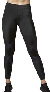 CW-X Women's Mid Rise Full Length Stabilyx Compression Legging Tights NAVY/XS