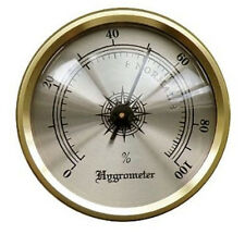 "Brass Frame Analog Hygrometer for Cigar Humidor 1 3/4"" Face HY134 by Prestige"