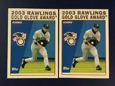 2004 Topps #703 ICHIRO SUZUKI Gold Glove Lot 2 Seattle Mariners
