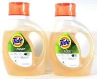 2 Bottles Tide 37 Oz Purclean Plant Based 4X Cleaning Power 24 Loads Detergent
