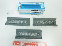 BM610-0,5# 3x Märklin H0 7568 Rampenstück gerade (K-Gleis/M-Gleis), NEUW+OVP