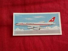 1962 LYONS TEA CARD WINGS ACROSS THE WORLD # 16 OF 24 CONVAIR 990 USA SWISSAIR