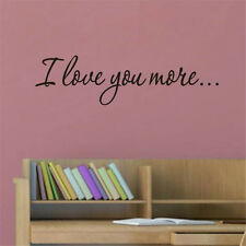 Hot I love you more Vinyl Quote Wall Sticker Home decor Wall Decals Words decor