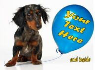 PERSONALISED DACHSHUND SAUSAGE DOG BIRTHDAY ANY OCCASION CARD Illus Insert