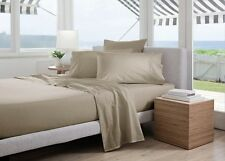 Sheridan Classic Percale 300TC Cotton Double Bed sheet  Set in Husk RRP $239.95