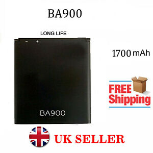 New Replacement Battery BA900 for Sony Xperia L J M
