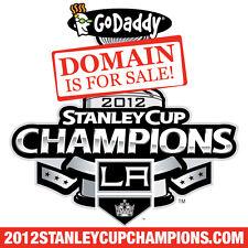 2012 STANLEY CUP CHAMPIONS .COM - LA Kings - Hockey - Domain Name - GoDaddy