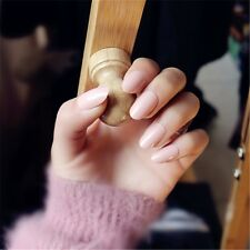 Classical Light Pink Acrylic Designer French False Nails 24 Pcs Nails With Glue