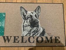 Black German Shepherd Welcome Dog door mat