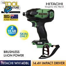 HITACHI BRUSHLESS IMPACT DRIVER 14.4V LI-ION - Skin Only