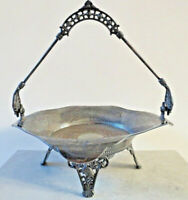 Antique Aesthetic Movement c1880 James Tufts Boston Silver raised compote USA