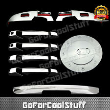 Fit CADILLAC ESCALADE 07-12 CHROME LOWER MIRROR, 4 DOOR& TAILGATE COVER+GAS Door