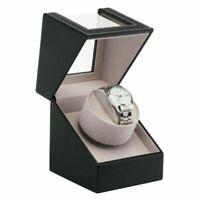 Automatic Watch Winder Display Case Rotating Storage Organizer Box Single BA1