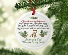 Christmas Memorial Bauble Decoration Personalised Tree Gifts Angel in heaven