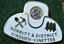MERRITT BRITISH COLUMBIA KINSMEN & KINETTES HAT Lapel Pin Near Mint