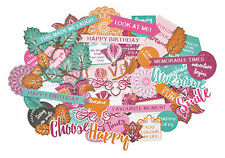Bombay Sunset Collectables Die Cut Shapes Kaisercraft 50+ Piece Pack