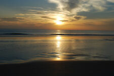 """Sunrise Canvas Pictures 16""""x20"""" Stunning Water Scene Art Prints Modern Home Gift"""