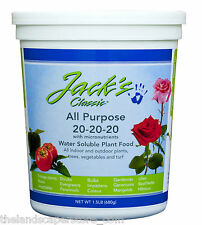 JR Peters Jack's Classic 20-20-20 1.5 lb All Purpose Plant Food Fertilizer Jacks