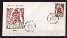 d/ Gabon   enveloppe   faune  singe  gorille   1964