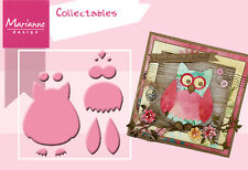 "MARIANNECOLLECTABLES - ""OWL"" 12 PIECE COL1302 FOR SCRAPBOOKING AND CARDS"