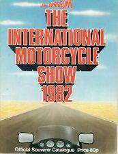 1982 APRIL 36109 BRRRRUM  BIRMINGHAM  INTERNATIONAL MOTOR CYCLE  SHOW CATALOGUE